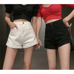 Brooklane - Wide-Leg Denim Shorts