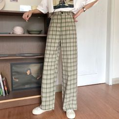 Dute(デュート) - Plaid Wide Leg Pants