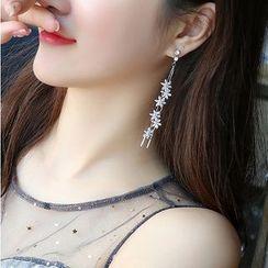Agape - Crystal Flower Fringed Earring