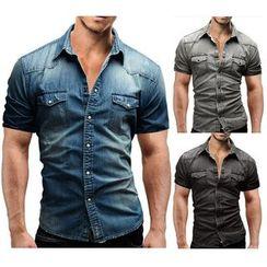Hansel - Short Sleeve Denim Shirt
