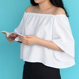 Whoosh - Off-shoulder Short-Sleeve Top