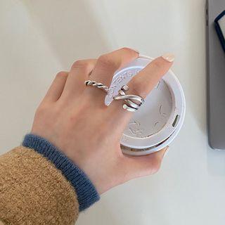 Rouwan - 多層合金開口戒指 (多款設計)