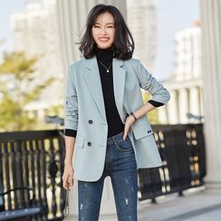 Victoire - Plain Double Breasted Blazer