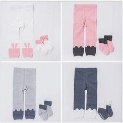 Cloud Femme - Kids Set: Cartoon Socks + Leggings