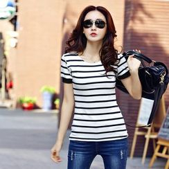 Ashlee - Stripe Short-Sleeve T-shirt