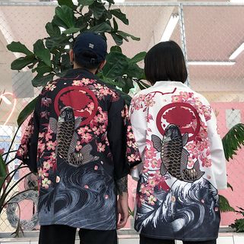 Magma - 印花和服外套