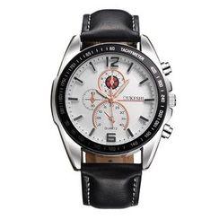 MODIYA - 三表盘仿皮带式手表