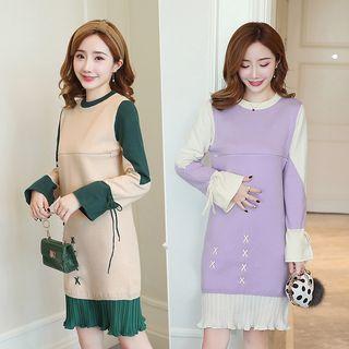 Vieux Maternity Nursing Sweater Dress Yesstyle