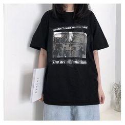 CaraMelody - Short-Sleeve Printed T-Shirt