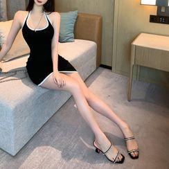 STARK - Halter Sleeveless Mini Sheath Dress