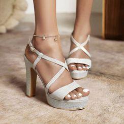 Megan - Chunky Heel Platform Sandals