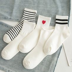 Mimiyu - Set of 5: Printed Socks