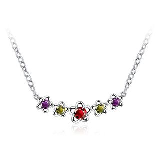 BELEC - Fashion Elegant Flower Necklace with Cubic Zircon and Necklace