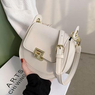 Skyglow(スカイグロウ) - Plain Flap Saddle Crossbody Bag