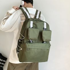EAVALURE(イーヴァルア) - Plain Multi-Section Zip Backpack