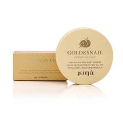 PETITFEE - Parches de hidrogel para el contorno de ojos de oro y caracol Gold Snail Hydrogel Eye Patch 60 unidades