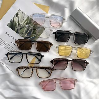 Aisyi - Double-bridge Square Sunglasses
