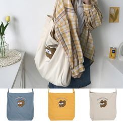 TangTangBags - Applique Plaid Tote Bag