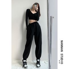 Shira - Brushed Loose-Fit Sweatpants in 5 Colors