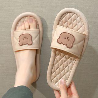Ishanti - Couple Matching Bear Print Home Slippers