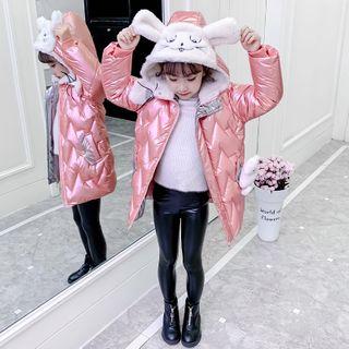 Qin Qin - 小童小兔連帽夾棉拉鏈夾克