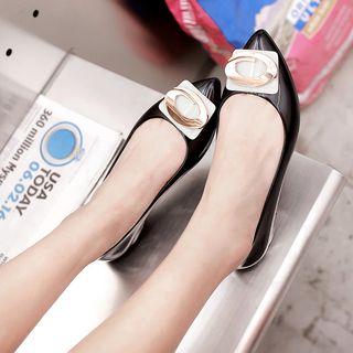 Moeelsall - PVC 扣子平跟鞋