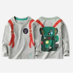 Happy Go Lucky - Kids Long-Sleeve Printed T-Shirt