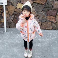 Ohori - 女童印花夹棉大衣