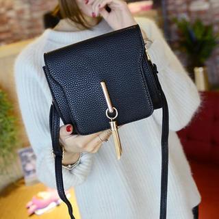 Rosanna Bags - Faux-Leather Tasseled Cross Bag