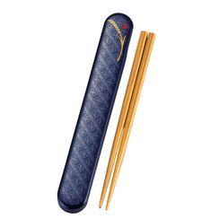 Hakoya - Hakoya Wooden Chopsticks 18cm with Case (Komemon Navy)