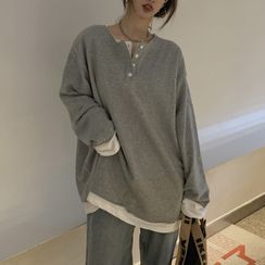 Thinmia(シンミア) - Mock Two-Piece Pullover