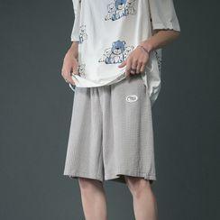 EOW - Drawstring Waist Plain Shorts