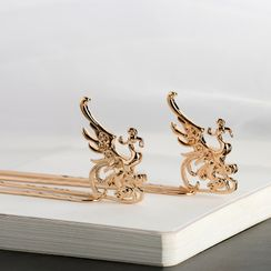 Kanzashi - Retro Alloy Phoenix Hair Stick
