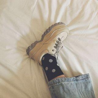 Queen Zoo - Fabric Platform Sneakers