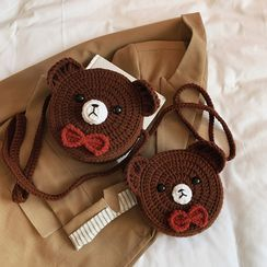 Katleon - 熊针织斜挎包