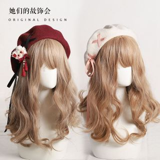 AOI - Ribbon Wool Beret Hat