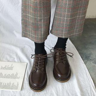 Senkano - 仿皮繫帶鞋