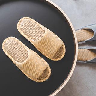 Furana - 情侣款草织家居拖鞋