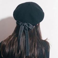 FROME - Band-Detail Woolen Beret