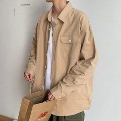Wescosso - 纯色长袖衬衫