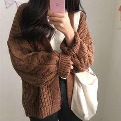 Renara - Cable-Knit Open Front Cardigan
