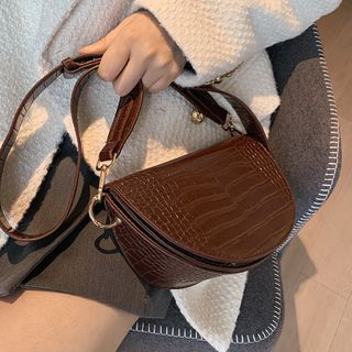FAYLE - Round Flap Crossbody Bag
