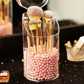 Alfheim - Golden Trim Acrylic Makeup Brush Holder