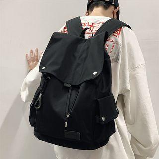 SUNMAN - 纯色翻盖背包