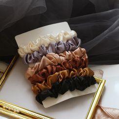 Yoonah - 六件套裝: 布藝髮圈