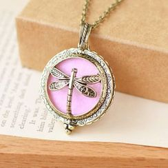 Nisen - Dragonfly Aromatherapy Locket Necklace