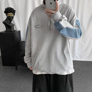 Lazi Boi - Color Block Half Zip Pullover