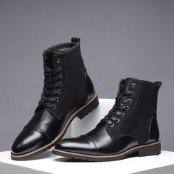 Taragan - Faux Leather Short Boots
