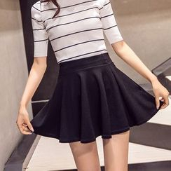 CHATNOIRE - Inset Shorts A-Line Skirt