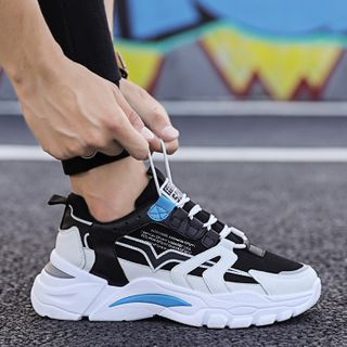 TATALON - Color Block Lace-Up Athletic Sneakers